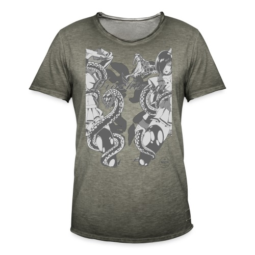Bliss Yagami Grey - T-shirt vintage Homme