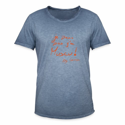 je peux pas j'ai muscu - T-shirt vintage Homme
