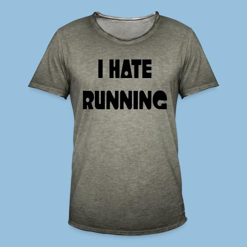I hate running 002 - Mannen Vintage T-shirt