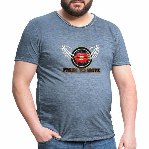 labios jpg - Camiseta vintage hombre