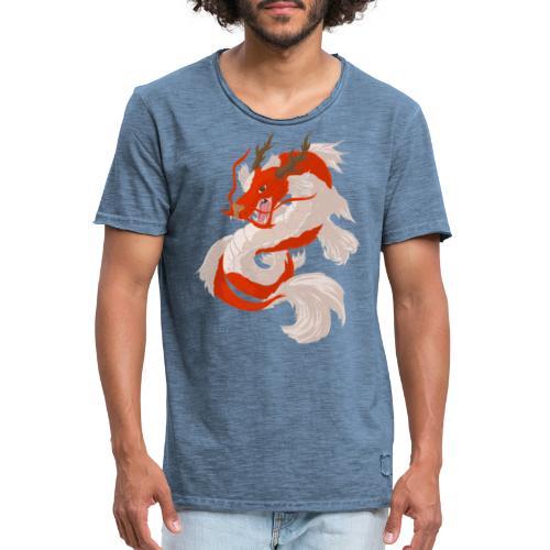 Dragon koi - Maglietta vintage da uomo
