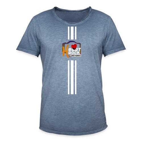 stripes02blue - Männer Vintage T-Shirt