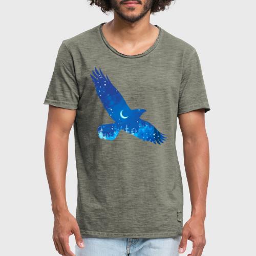 Oiseau Bleu d'hiver - T-shirt vintage Homme