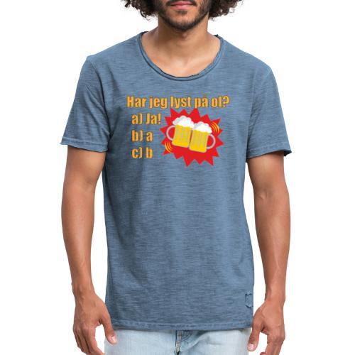 Øl - Morsom t-skjorte om øl - Vintage-T-skjorte for menn