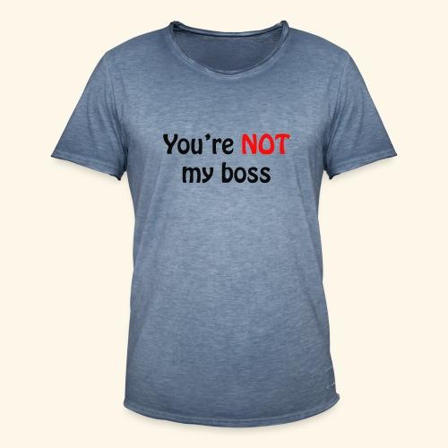boss - Männer Vintage T-Shirt