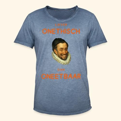 Liever onethisch dan oneetbaar - Mannen Vintage T-shirt