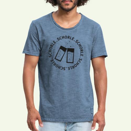 Schorle schwarz - Männer Vintage T-Shirt