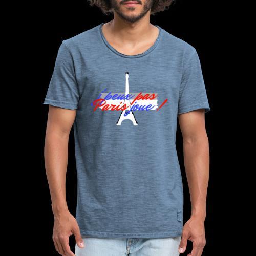 j'peux pas Paris joue - T-shirt vintage Homme
