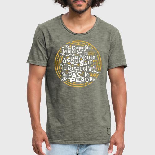 Aimer vivre et se perdre - T-shirt vintage Homme