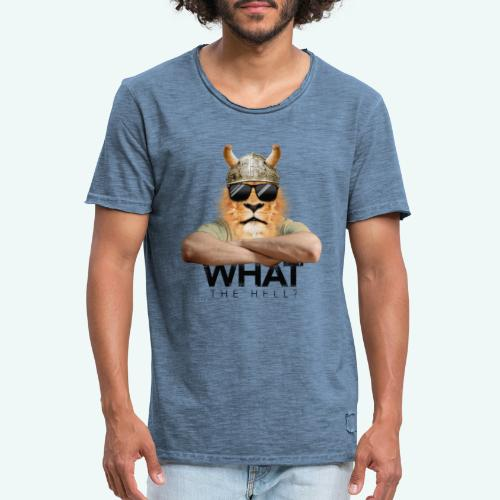 What the hell? - Männer Vintage T-Shirt