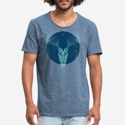 Hirschgeweih - Männer Vintage T-Shirt