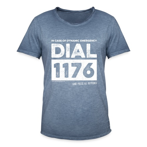 DIAL1176 white - T-shirt vintage Homme