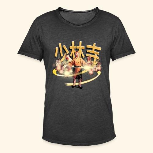 Gordon Liu as San Te - Warrior Monk - Mannen Vintage T-shirt