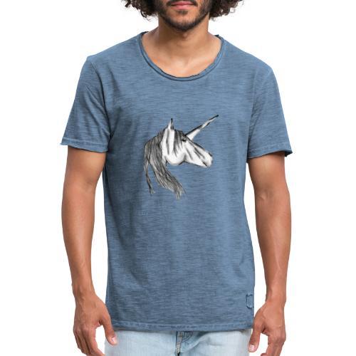 Enhörning - Vintage-T-shirt herr