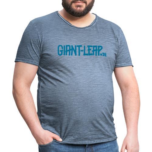 schriftzug horizontal - Männer Vintage T-Shirt
