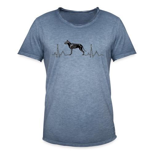 ECG met hond - Mannen Vintage T-shirt