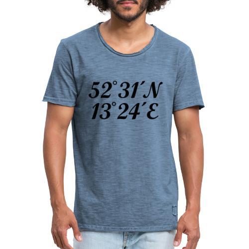 Berlin Koordinaten - Männer Vintage T-Shirt