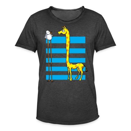 La girafe et l'échassier - T-shirt vintage Homme