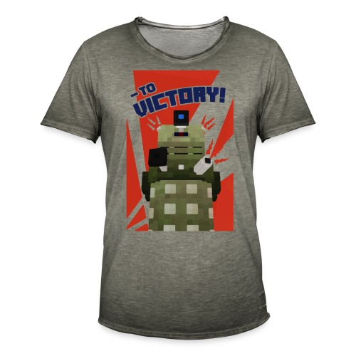 Dalek Mod - To Victory - Men's Vintage T-Shirt