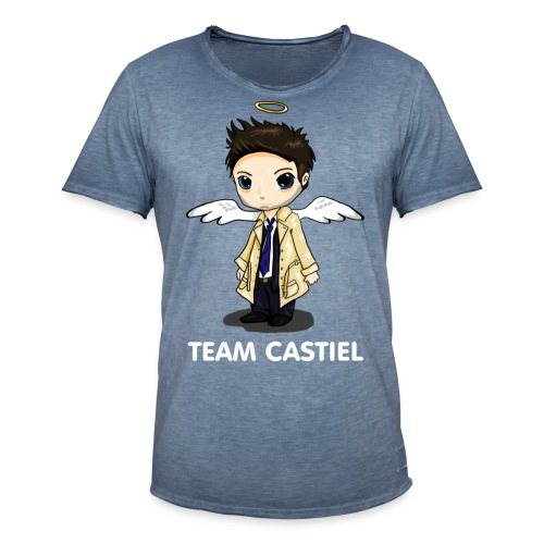 Team Castiel (dark) - Men's Vintage T-Shirt