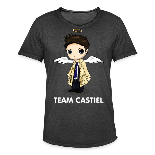 Team Castiel (dark) - Men's Vintage T-Shirt
