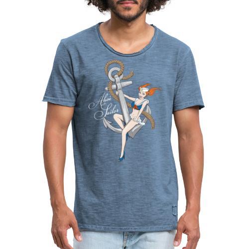Ahoi Sailor - Männer Vintage T-Shirt