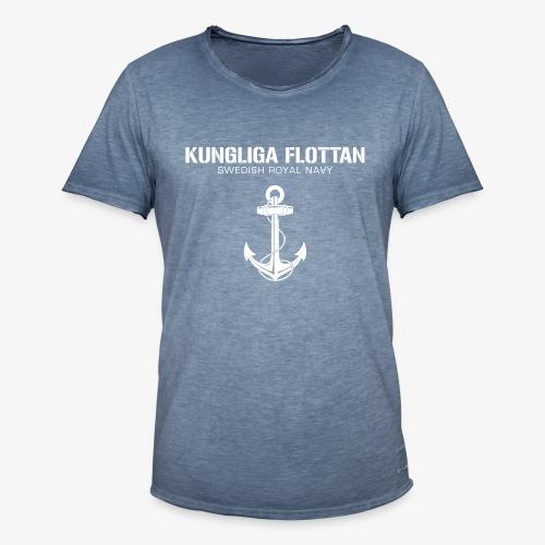 Kungliga Flottan - Swedish Royal Navy - ankare - Vintage-T-shirt herr