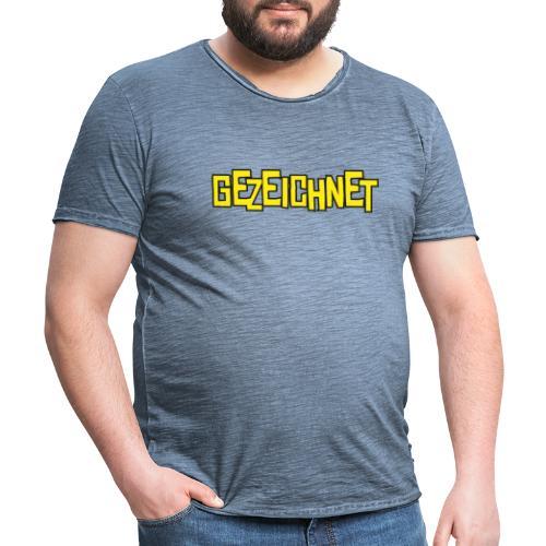 Gezeichnet Logo Gelb - Männer Vintage T-Shirt