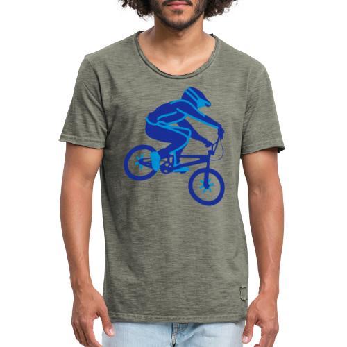 BMX Rider Dark - Mannen Vintage T-shirt