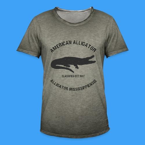 American Alligator black - Mannen Vintage T-shirt