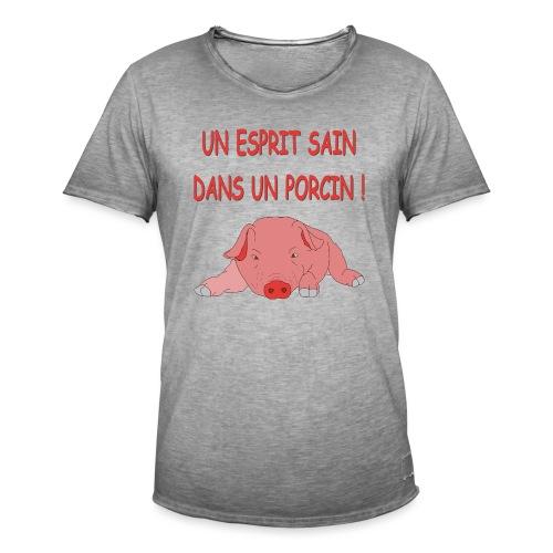 Porcitive Attitude - T-shirt vintage Homme