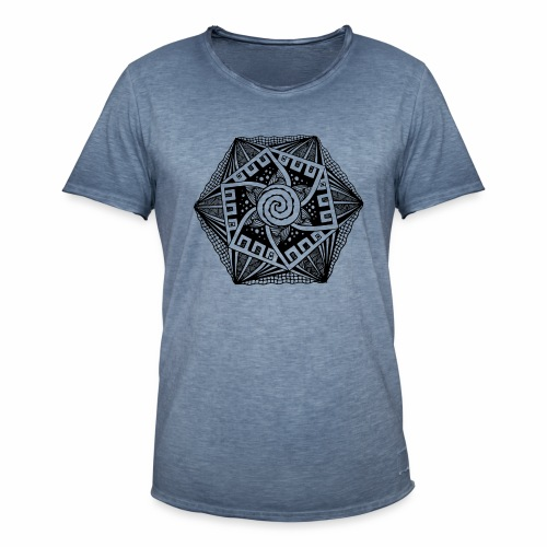 Sechseck black - Männer Vintage T-Shirt