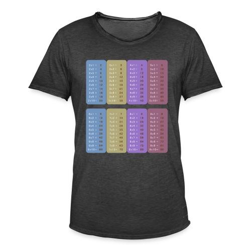 Table de multiplication - T-shirt vintage Homme