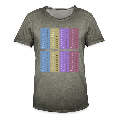 Table de multiplication - T-shirt vintage Homme