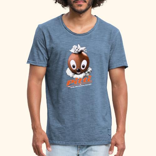 Pittiplatsch 3D Ach, du meine Nase auf dunkel - Männer Vintage T-Shirt