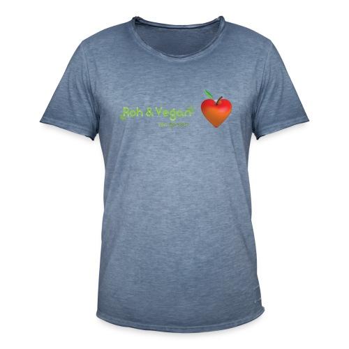 Roh & Vegan rotes Apfelherz (Rohkost) - Männer Vintage T-Shirt