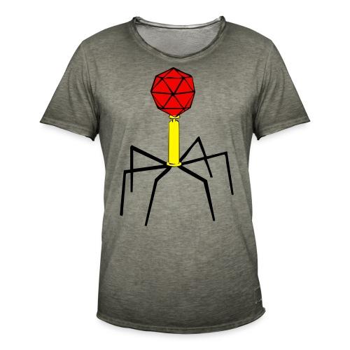 Bakteriophage für Flock- und Flexdruck! - Männer Vintage T-Shirt