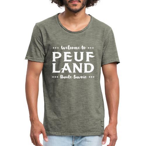 Peuf Land 74 - white - T-shirt vintage Homme