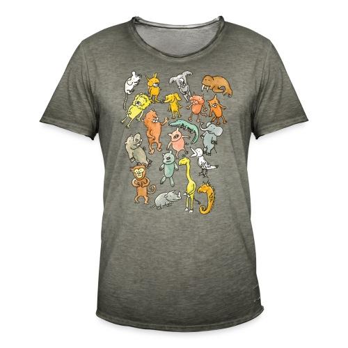 Farandole d'animaux - T-shirt vintage Homme