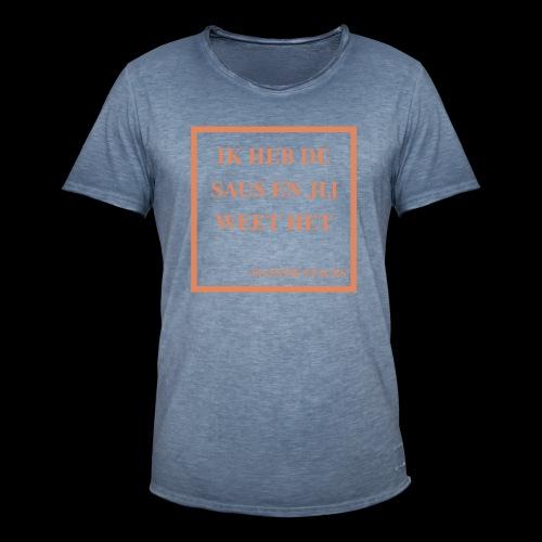 Saus - Mannen Vintage T-shirt