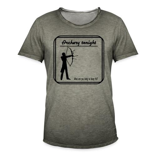 Archery tonight - Miesten vintage t-paita