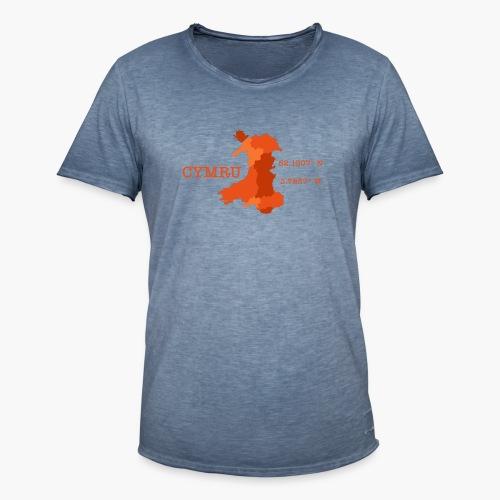 Cymru - Latitude / Longitude - Men's Vintage T-Shirt