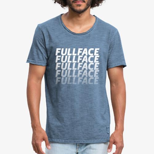 FULLFACE #1 white - Männer Vintage T-Shirt
