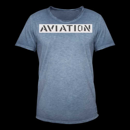 Aviation - Männer Vintage T-Shirt