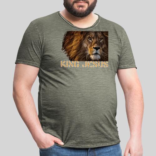 König Jesus der Löwe von Juda - Männer Vintage T-Shirt