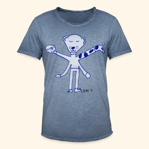 LeniT Teddy With a Twist - Miesten vintage t-paita