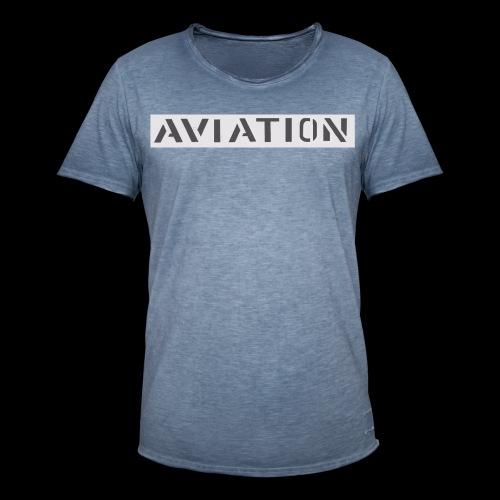 Aviation - Männer Vintage T-Shirt