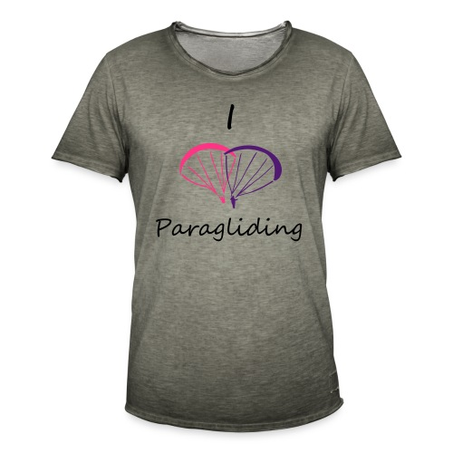 I Love Paragliding V2 - Men's Vintage T-Shirt