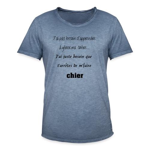Colère - T-shirt vintage Homme