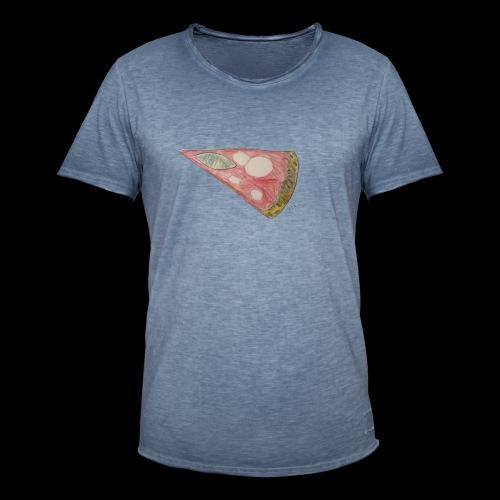 BY TAiTO Pizza Slice - Miesten vintage t-paita